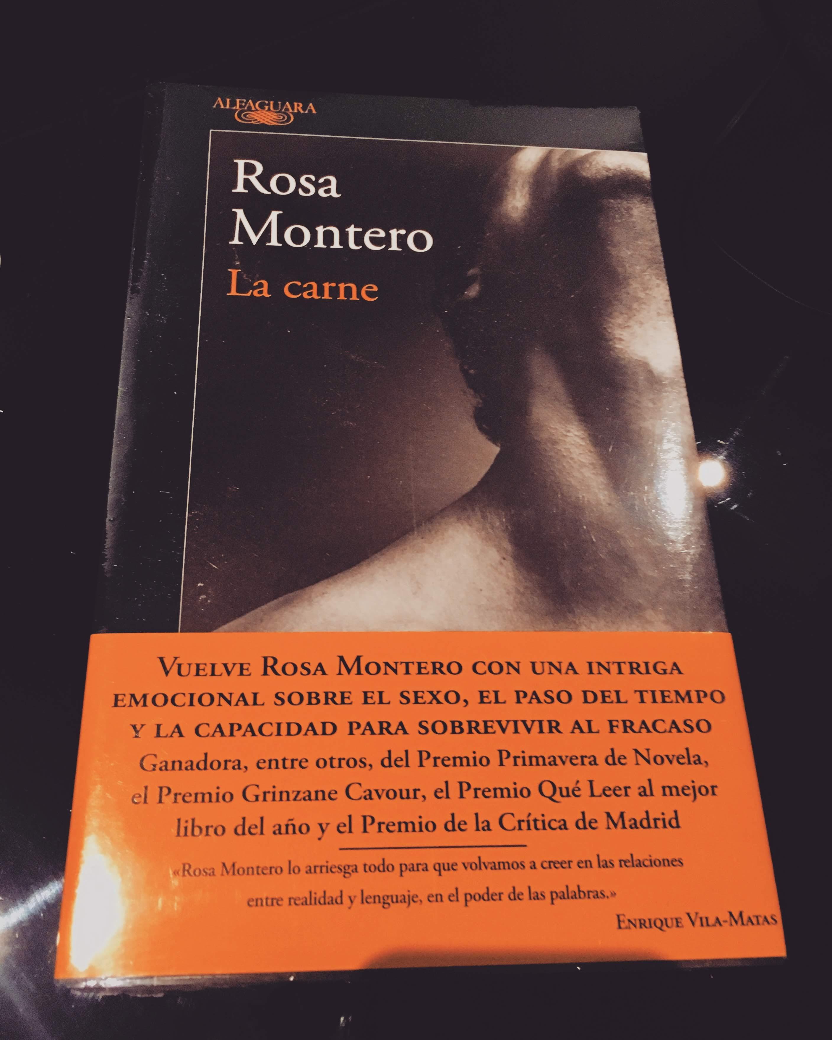 Portada del Libro La carne de la autora española Rosa Montero. (Foto: Sandra Ramírez Checnes)