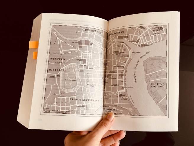 Mapa de Shanghai en el que se aprecia la Concesión francesa y la internacional. (Foto: Sandra Ramírez Checnes).