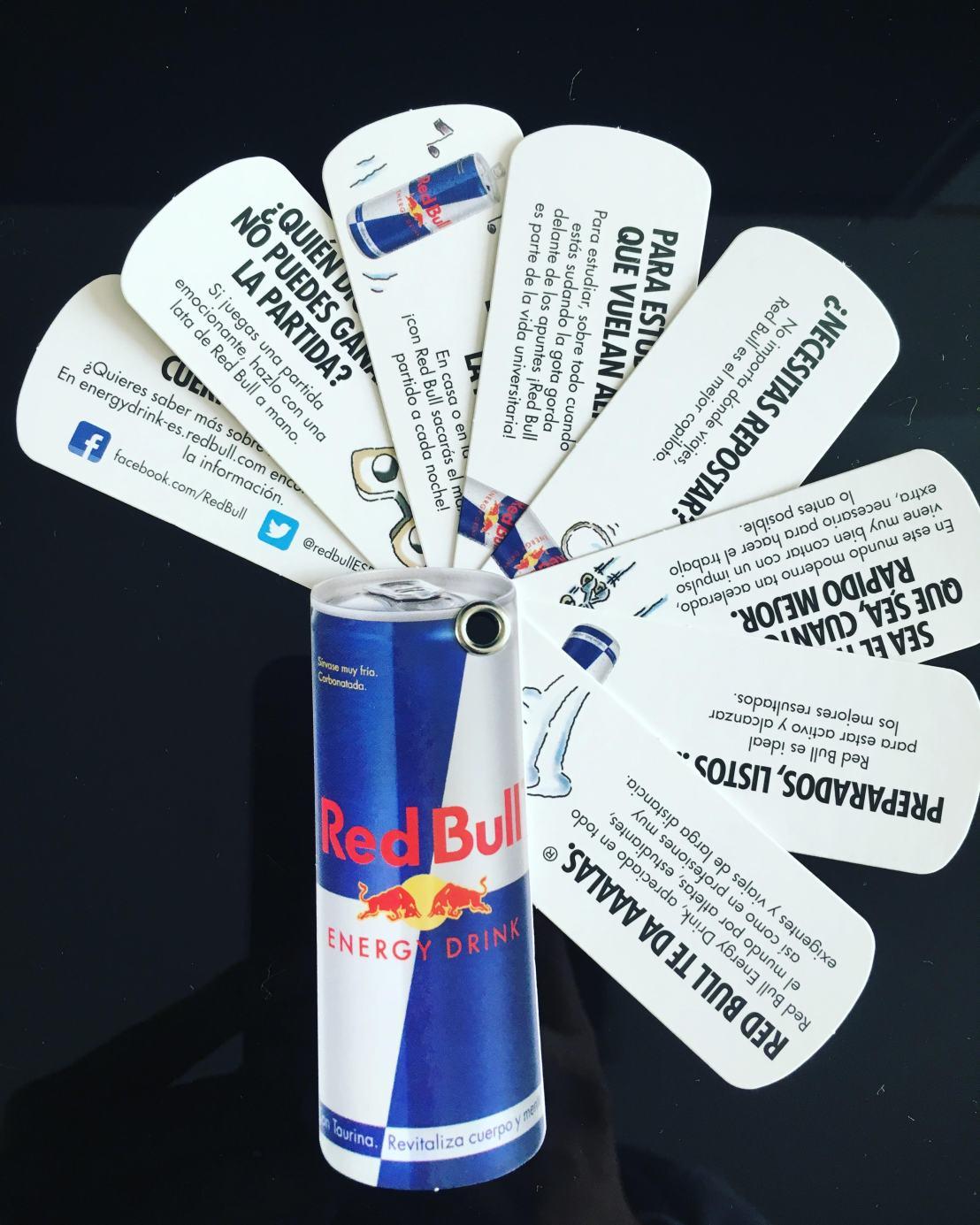 Troquelado publicitario de Red Bull (Foto: Sandra Ramírez Checnes)